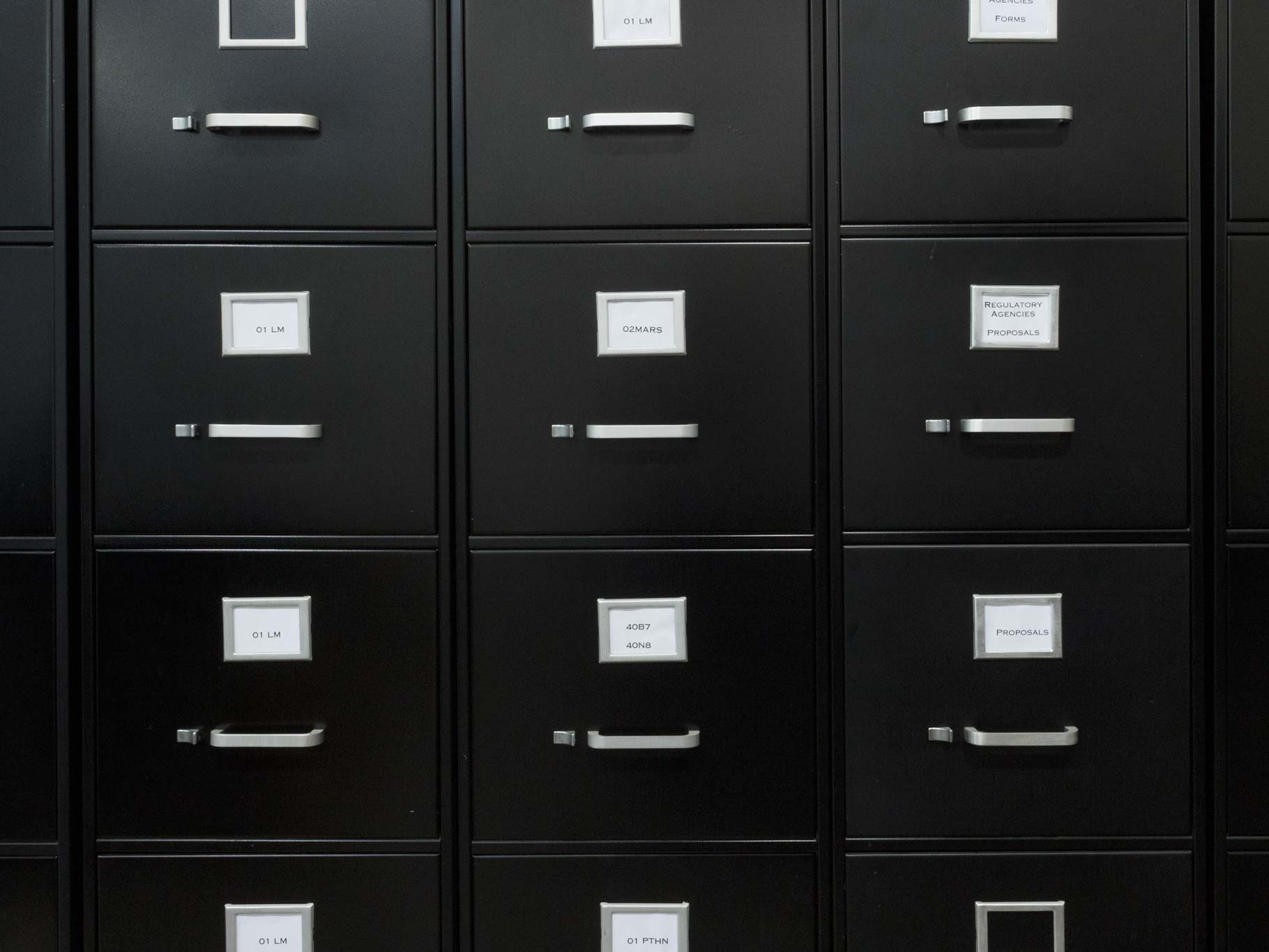 File Cabinets Full of Projects
