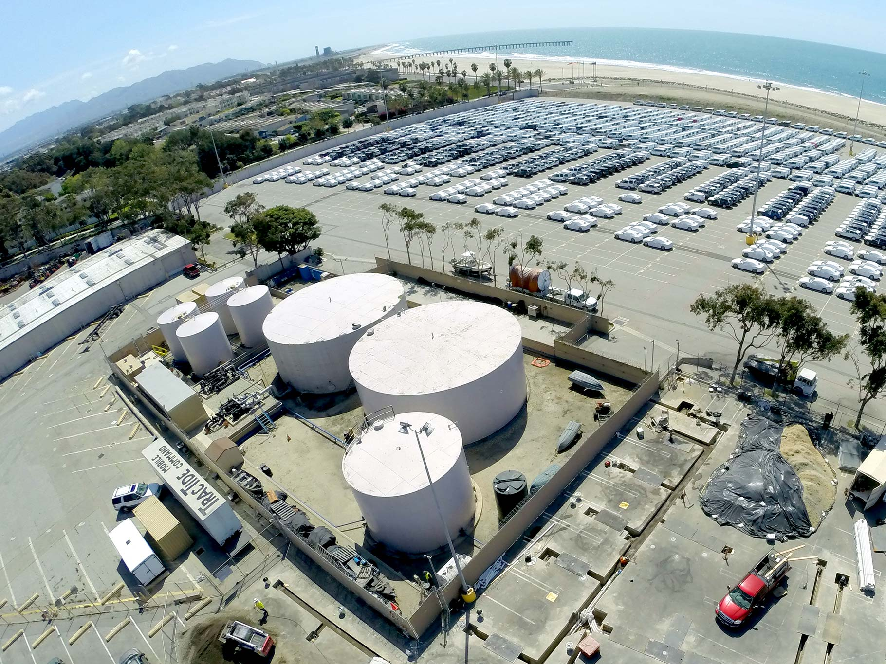 Aerial view of Port Hueneme Trenching Project